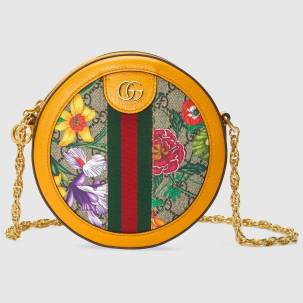 Ophidia GG Flora mini round shoulder bag | Gucci