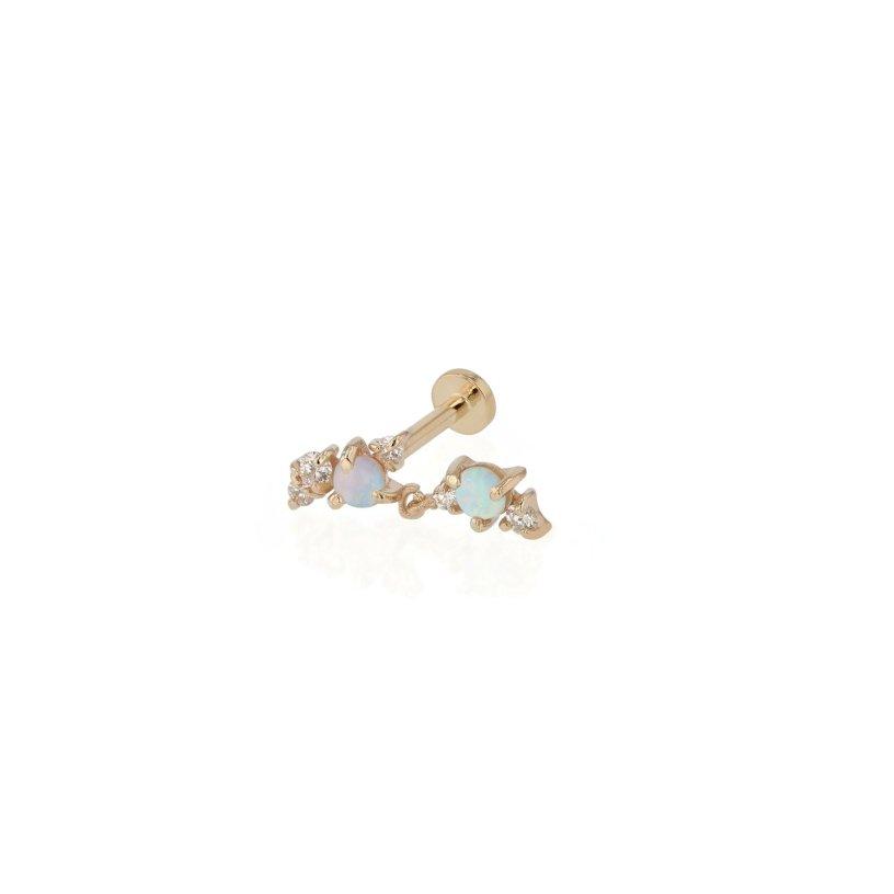 Chroma Opal Cartilage Earring | Sarah & Sebastian